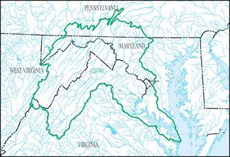 picture of a Hydrologic Unit Map